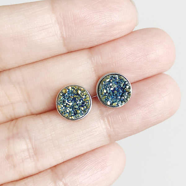 Côte d'Azur Drusy Stud Earrings (Roxanne's Pick)