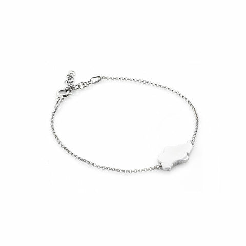 Singapore Island Bracelet in White Gold