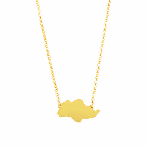 Singapore Island Necklace in Yellow Gold