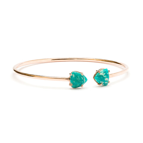 """Adele"" Amazonite Bracelet in Rose Gold"