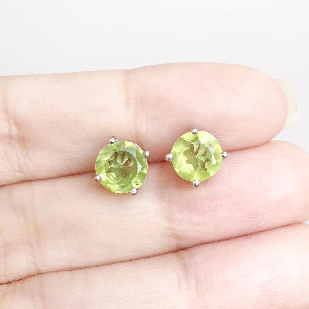 Glittering Stud Earrings - Peridot (Last Pair Left!)