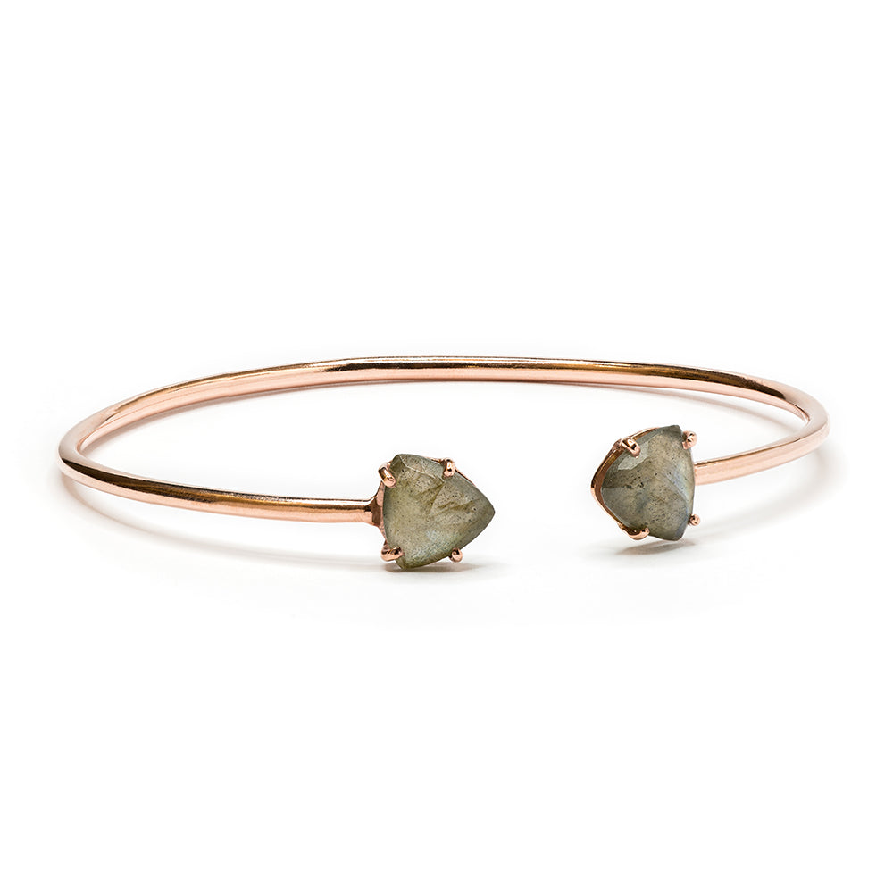 """Zoe"" Labradorite Bracelet in Rose Gold"