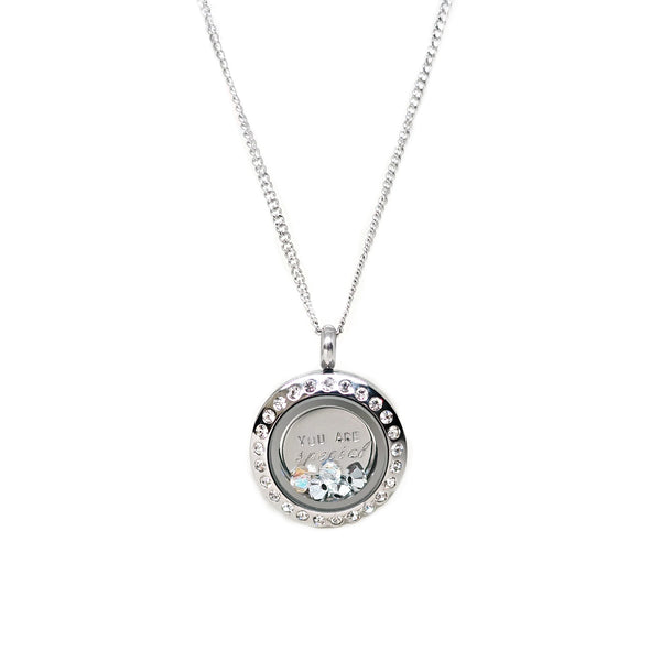 Mini Locket Necklace in Silver