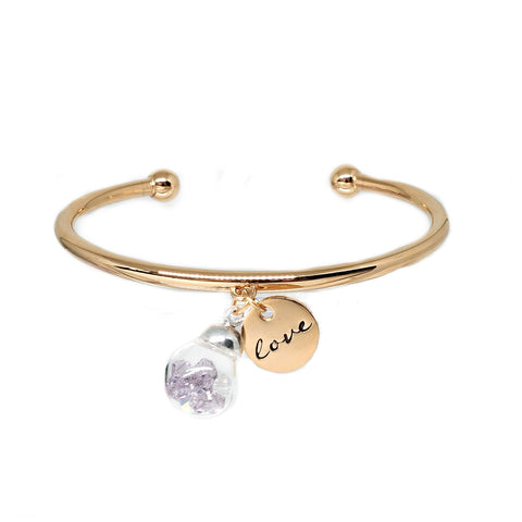 Valentine Swarovski Bangle in Gold