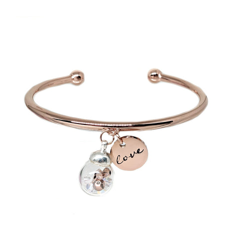 Valentine Swarovski Bangle in Rose Gold