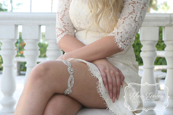 Jasmine Garter Set - Glam Garters Bridal Accessories Wedding Garter Bridal Garter Bridal Sash Prom Garter GlamGarters Wedding Garter Set Bridal Garter Set - 1
