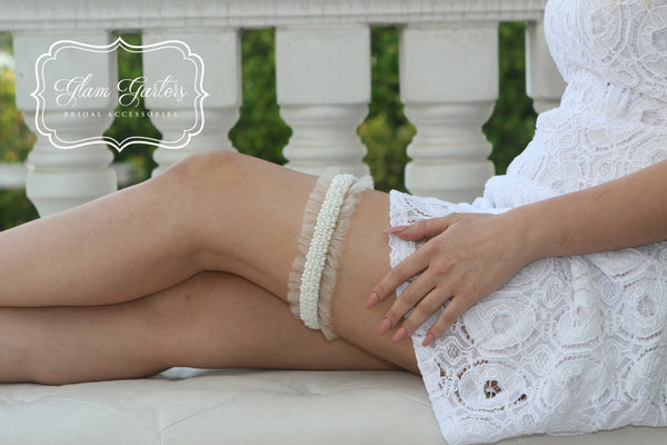 Mia Garter Set - Glam Garters Bridal Accessories Wedding Garter Bridal Garter Bridal Sash Prom Garter GlamGarters Wedding Garter Set Bridal Garter Set - 1