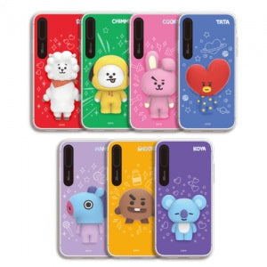 [BT21] LIGHT UP SILICON CASE FOR IPHONE (HYBRID)