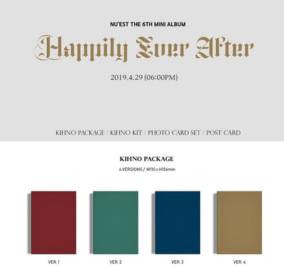 NUEST NU'EST 6th Mini Kihno Album 'Happily Ever After'  Kihno Kit