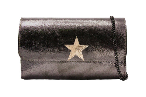 Mich Shoulder Bag Cracked Metallic Bronze w/ Gold Star