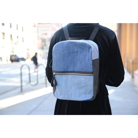 Framework x The Vintage Twin Backpack - Tri Denim - erindananewyork - 2