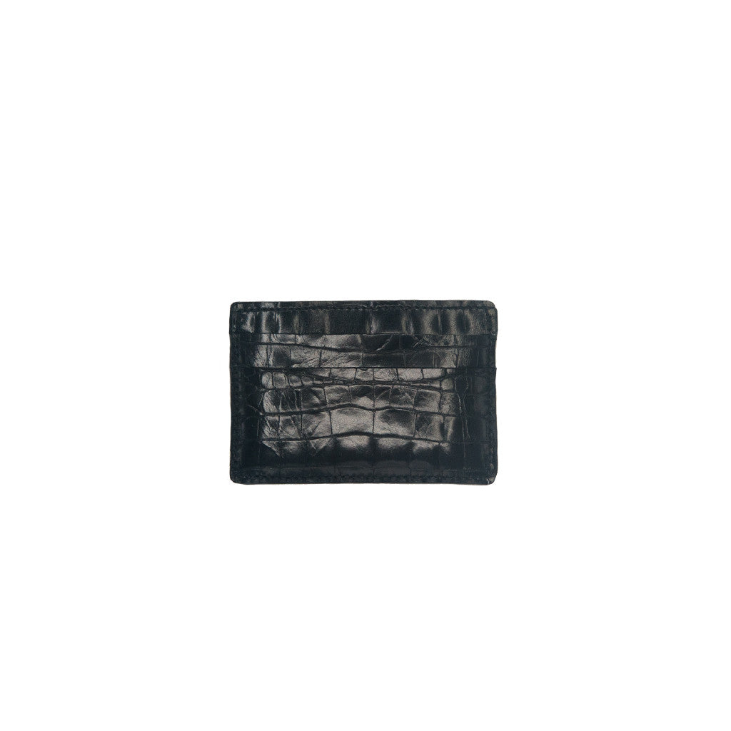 Card Holder Black Suede - erindananewyork - 1