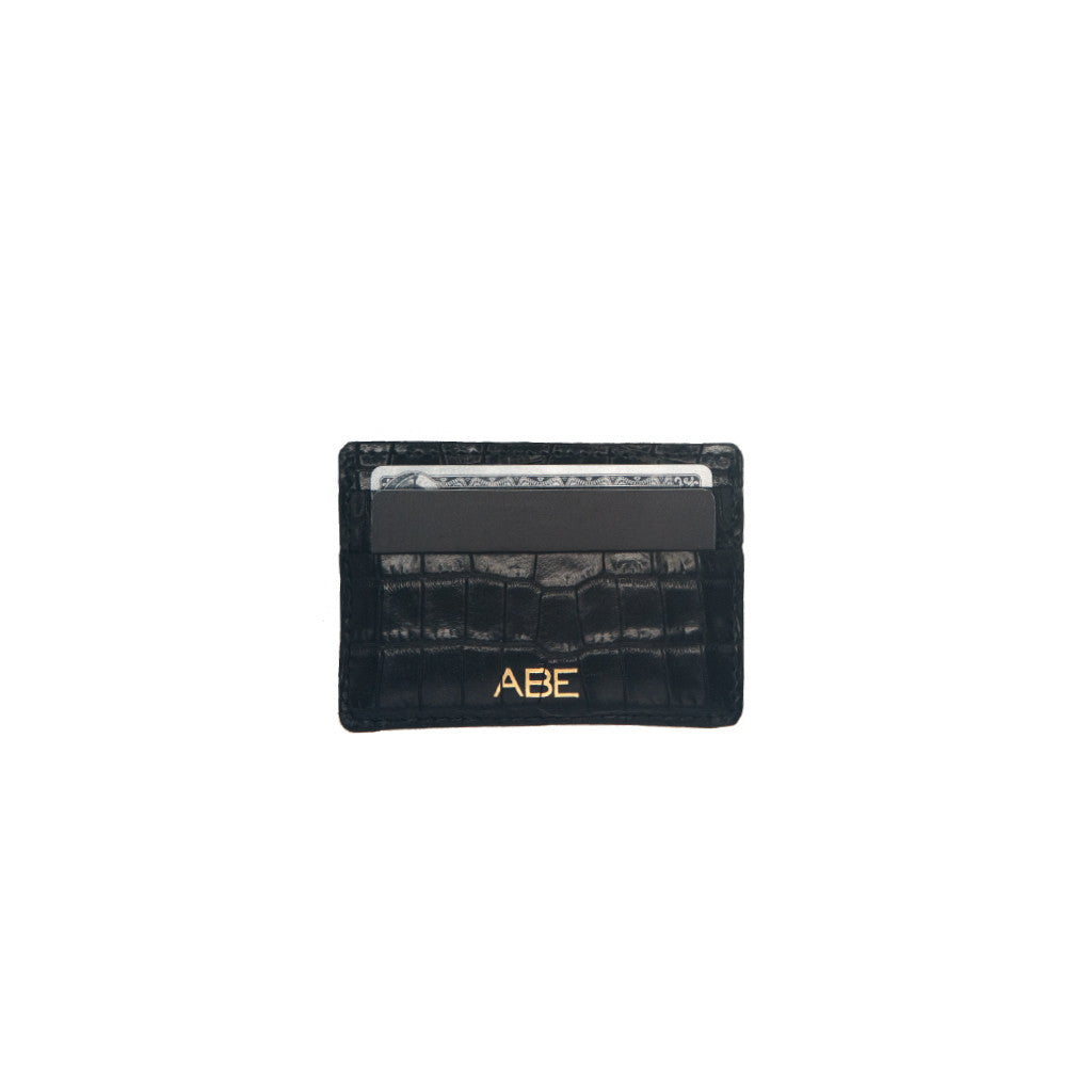 Card Holder Black Suede - erindananewyork - 2