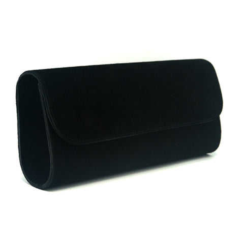 Kelley Alphabet Clutch - Black Suede - erindananewyork - 2