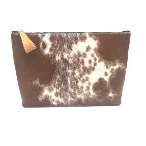Oversized Alex Pouch Pony Hair Dark - erindananewyork - 1