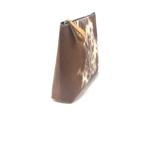 Oversized Alex Pouch Pony Hair Dark - erindananewyork - 2