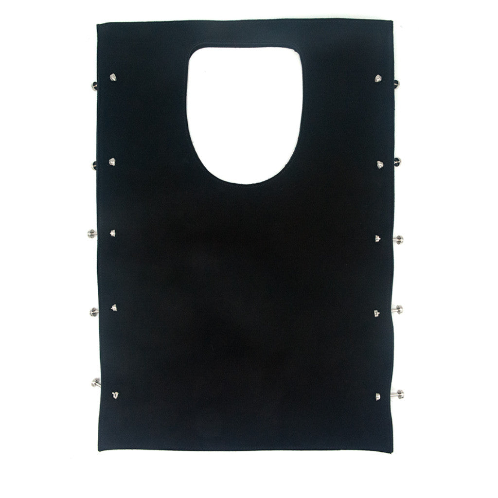 Robyn Tote Black Suede with Threaded Silver Bars - erindananewyork - 2