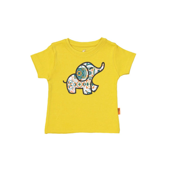 Organic Tee with Elephant (6mths-4yrs)