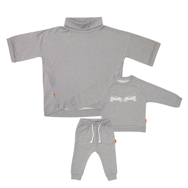 Organic Mommy & Me Set (Grey)