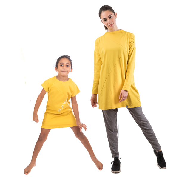 Sporty Set for Mommy and Daughter YELLOW