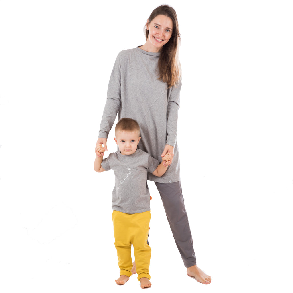 Sporty Set for Mommy and Child GREY