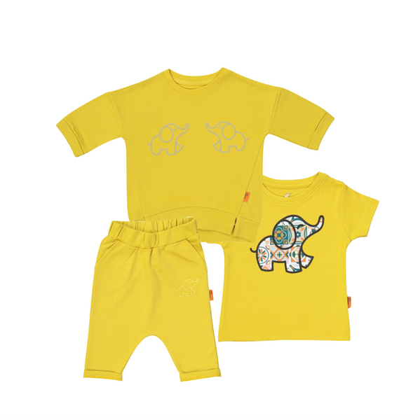 Organic Yellow Set (3 pieces)