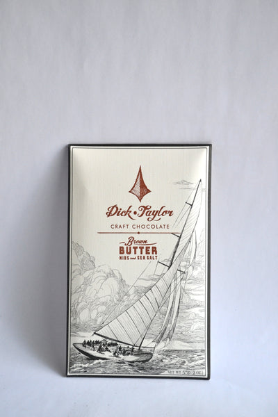 Dick Taylor Brown Butter, Nibs and Sea Salt Chocolate Bar