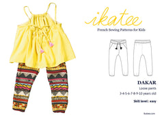 Dakar trousers sewing pattern