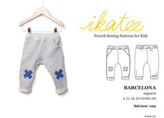 Barcelona Jogpants Sewing Pattern for Boys