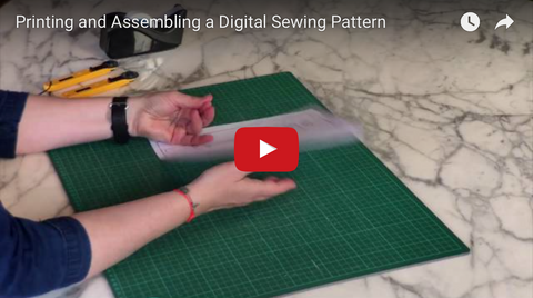 Printing and assembling a digital sewing pattern