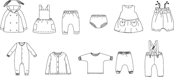 10 easy sewing patterns for babies