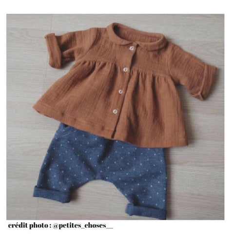 Stockholm short & long sleeves blouse - Baby Girl - PDF Sewing Pattern