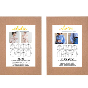 Duo ALEX Kids/Mum - Blouse or Dress - Paper Sewing Pattern