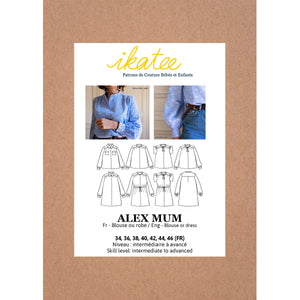 ALEX Mum - Blouse or Dress - Women 34-46 - Paper Sewing Pattern