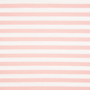 Stretch jersey - 1cm navy stripe - Pink/White