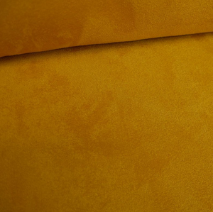 Sherpa lined suede fabric - Yellow