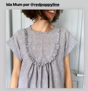 Duo IDA for girl and mum - blouse & dress  - PDF Sewing Patterns