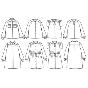 ALEX Blouse or Dress - Kids 3/12Y - Paper Sewing Pattern