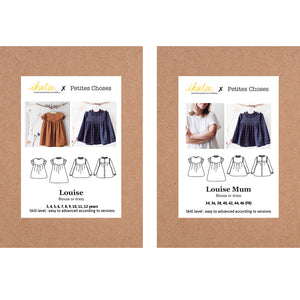 DUO LOUISE Girl + Mum - blouse & dress - Paper Sewing Patterns