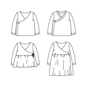 DUBLIN Cardigan or dress - Baby 1M/4Y - PDF Sewing Pattern