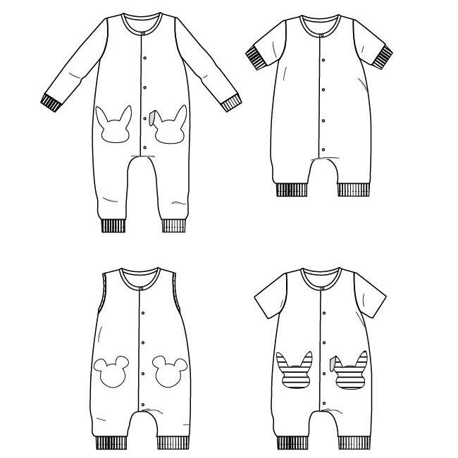 LISBOA jumpsuit / playsuit - Baby 6M/4Y - PDF Sewing Pattern – Ikatee
