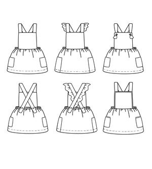 MILANO dress - Baby Girl 6M/4Y - Paper Sewing Pattern
