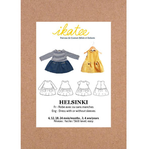 HELSINKI dress - Baby Girl 6M/4Y - Paper Sewing Pattern