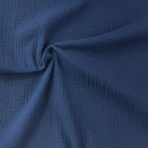 Organic Double gauze - Navy