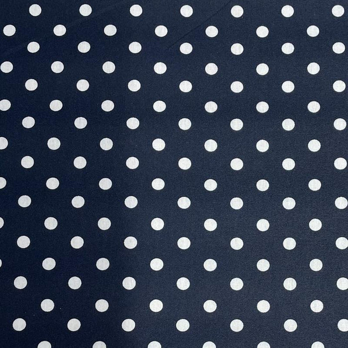 PU Coated Fabric - Spotty - Navy