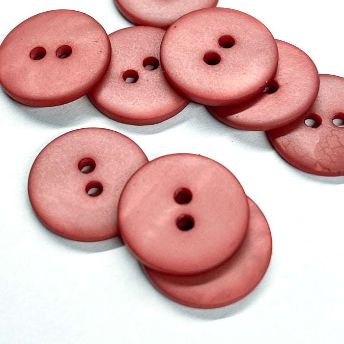 Shell matte buttons (sold by unit) - Sienna - 10mm, 12mm et 15mm