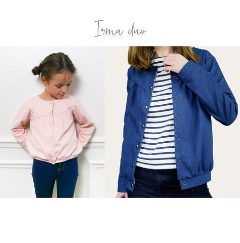 Irma Duo for girl and mum - cardigan  - 2 PDF Sewing Patterns