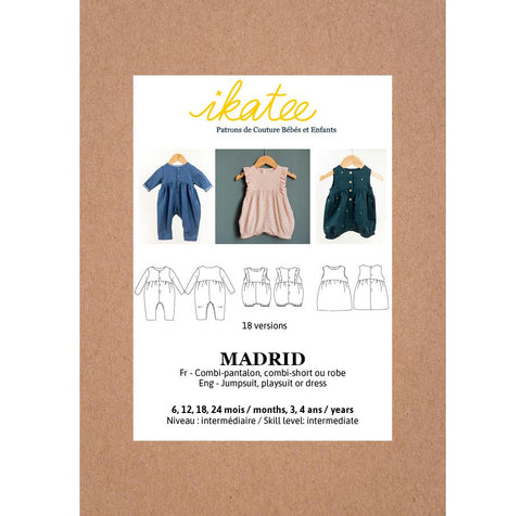 MADRID jumpsuit / playsuit -  Baby 6M/4Y - Paper Sewing Pattern