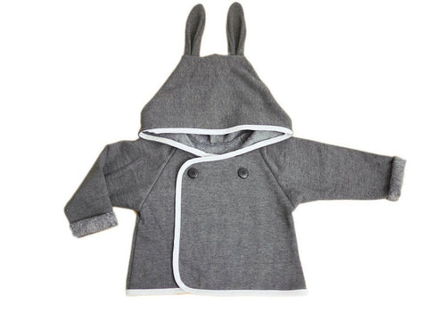Cardigan baby Sewing pattern grey