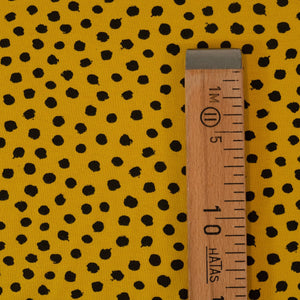 Organic stretch jersey - Dots - Ochre